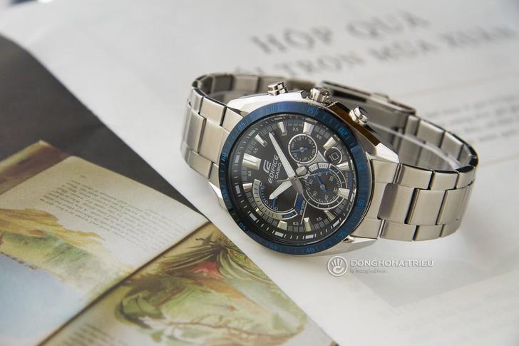 Đồng hồ Casio EFR-570DB-1BVUDF thiết kế thể thao ấn tượng - Ảnh 1