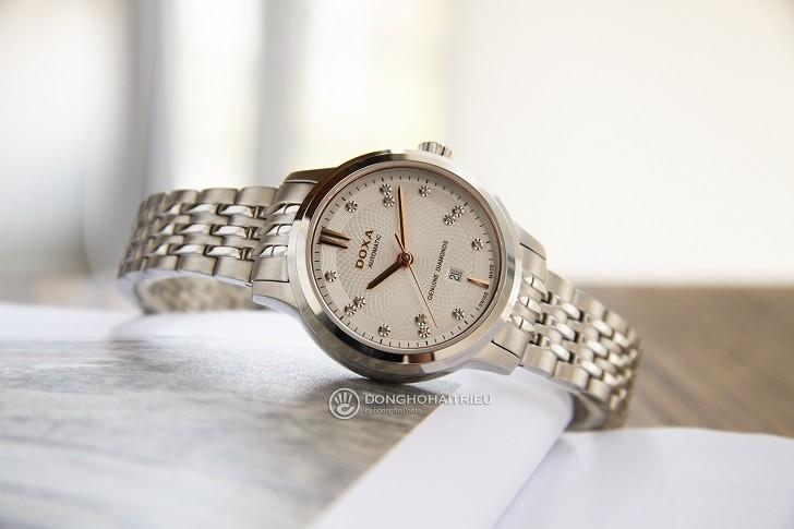 Đồng hồ Doxa D221SSV máy cơ, đính 14 viên kim cương thật - Ảnh: 1