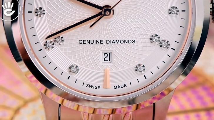 Đồng hồ Doxa D221SSV máy cơ, đính 14 viên kim cương thật - Ảnh: 2