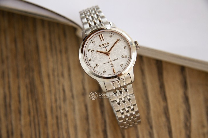 Đồng hồ Doxa D221SSV máy cơ, đính 14 viên kim cương thật - Ảnh: 5