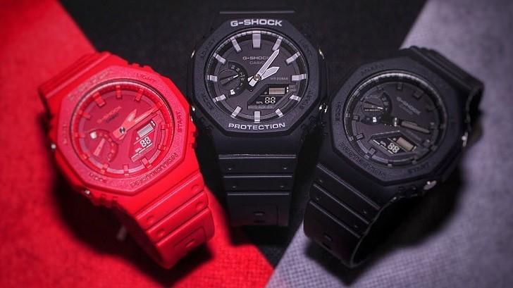 Đồng hồ G-Shock GA-2100-1ADR ấn tượng với thiết kế mặt số - Ảnh 5
