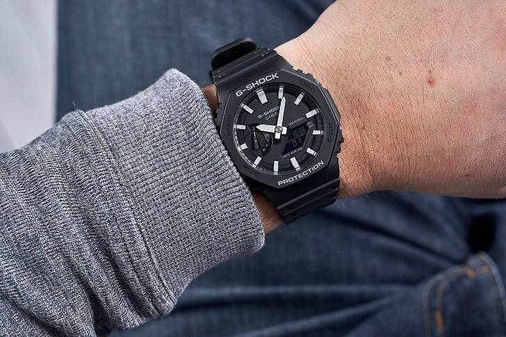 Đồng hồ G-Shock GA-2100-1ADR ấn tượng với thiết kế mặt số - Ảnh 6