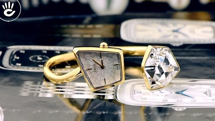 Đồng hồ Saga 80727 GPMWGP-2L kết hợp trang sức swarovski - Ảnh: 4