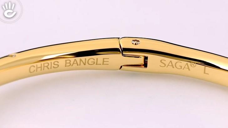 Đồng hồ Saga 80727 GPMWGP-2L kết hợp trang sức swarovski - Ảnh: 6