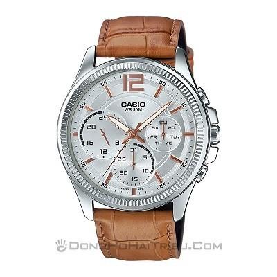 5 thương hiệu đồng hồ nam giá từ 2 đến 3 triệu tốt nhất - Ảnh: MTP-E305L-7A2VDF