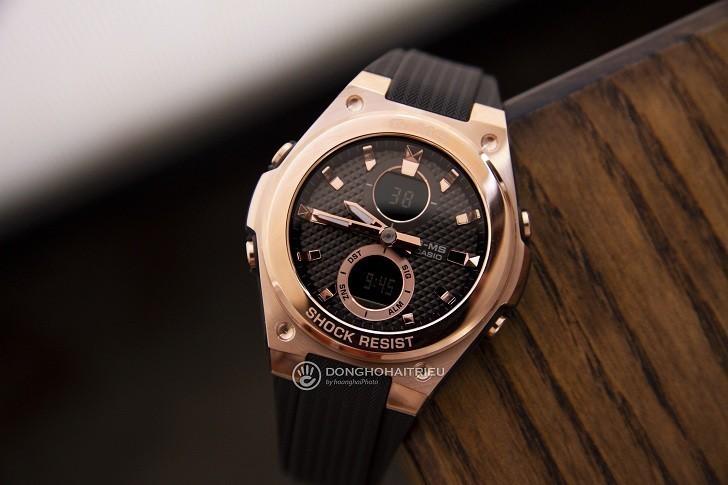 Đồng hồ Baby-G MSG-C100G-1ADR đen phối vàng hồng cá tính - Hình 3