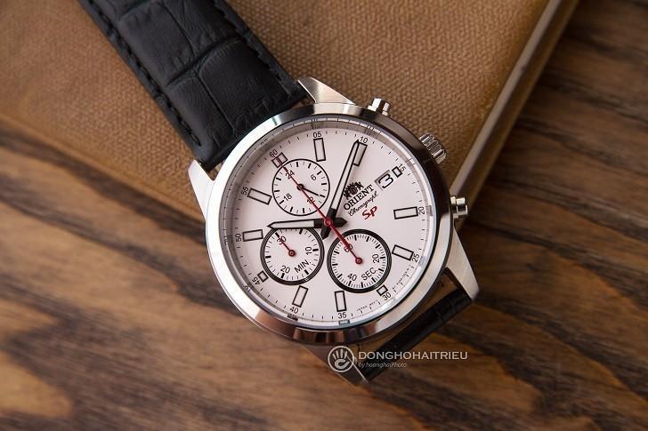 Đồng hồ Orient FKU00006W0 thể thao thiết kế Chronograph - Hình 6