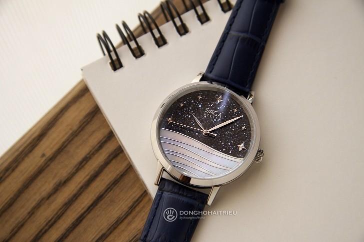Đồng hồ Saga 53624 SVBLBL-2 mặt số bầu trời vì sao pha lê - Hình 5
