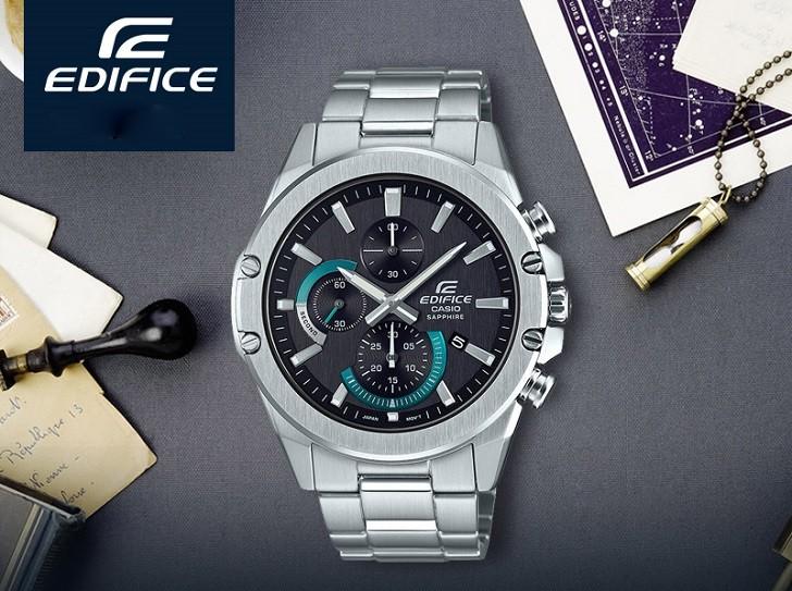 Đồng hồ Casio Edifice EFR-S567D-1AVUDF kính chống trầy - Ảnh: 3