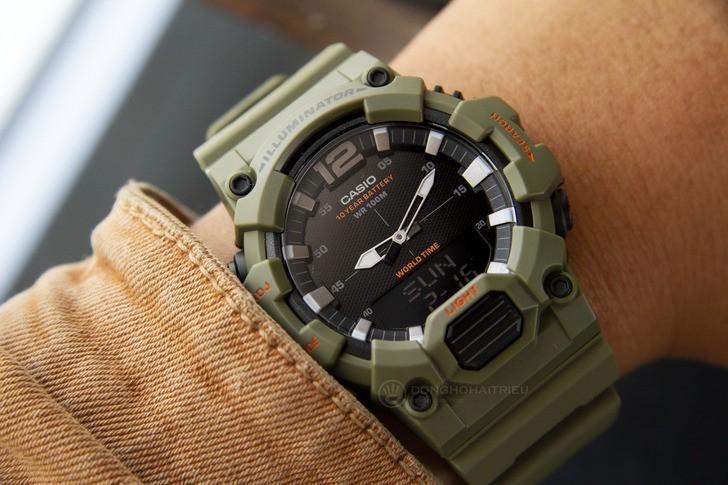 Đồng hồ Casio HDC-700-3A2VDF màu xanh quân đội thời thượng - Ảnh 2