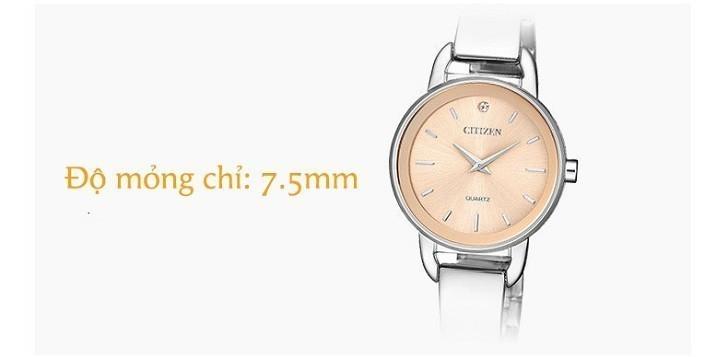 Đồng hồ Citizen EZ6370-56X mặt nhỏ, giá rẻ, đính pha lê - Ảnh: 1