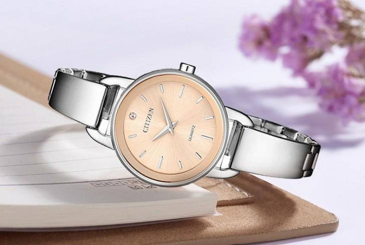 Đồng hồ Citizen EZ6370-56X mặt nhỏ, giá rẻ, đính pha lê - Ảnh: 2