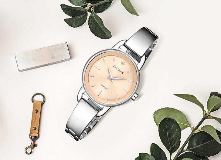 Đồng hồ Citizen EZ6370-56X mặt nhỏ, giá rẻ, đính pha lê - Ảnh: 6