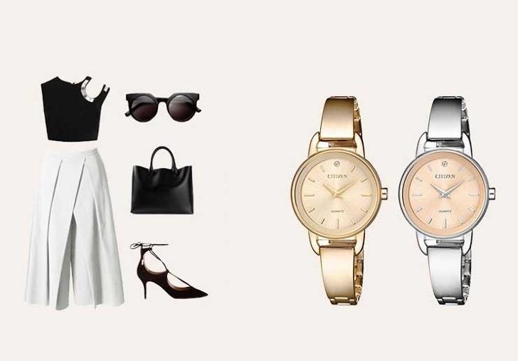 Đồng hồ Citizen EZ6370-56X mặt nhỏ, giá rẻ, đính pha lê - Ảnh: 7