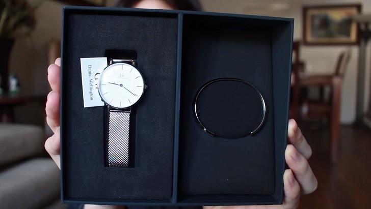 Đồng hồ Daniel Wellington DW00100164 giá rẻ, dây lưới - Ảnh: 1