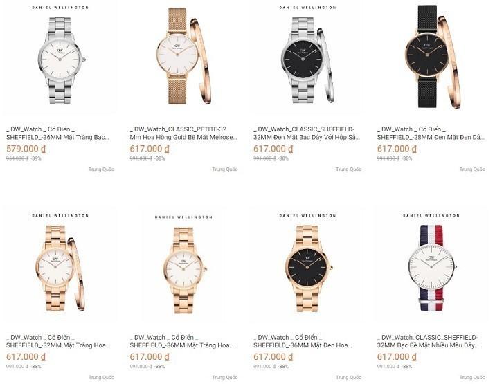 Đồng hồ DW giá 650k là hàng fake, sản xuất tại Trung Quốc - Ảnh: 1