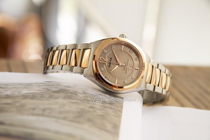 Đồng hồ Doxa D190RCM đính kim cương, máy cơ đẳng cấp - Ảnh: 1
