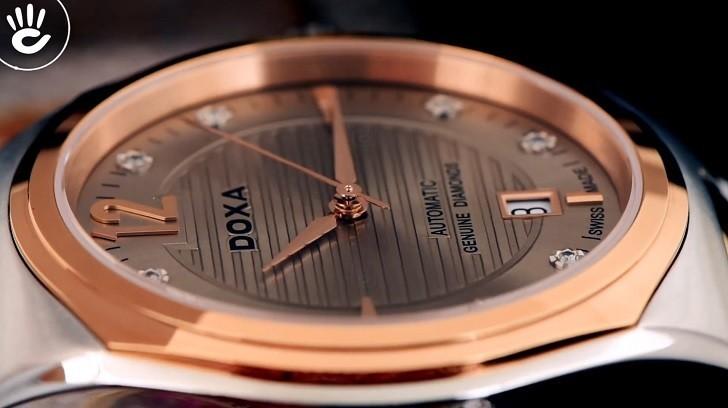 Đồng hồ Doxa D190RCM đính kim cương, máy cơ đẳng cấp - Ảnh: 2