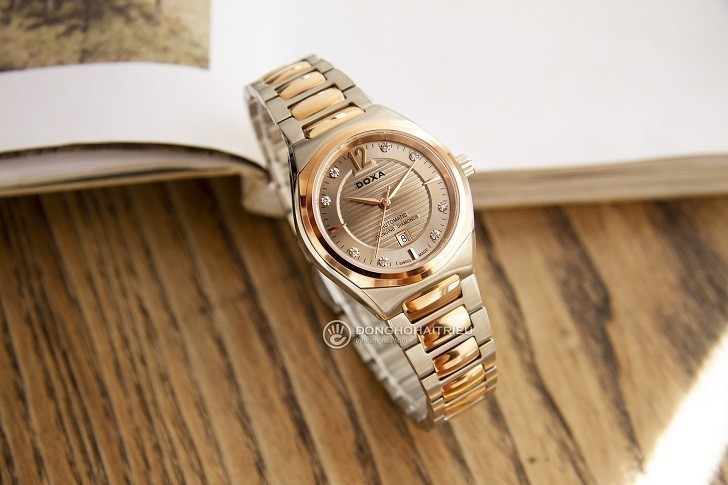 Đồng hồ Doxa D190RCM đính kim cương, máy cơ đẳng cấp - Ảnh: 6