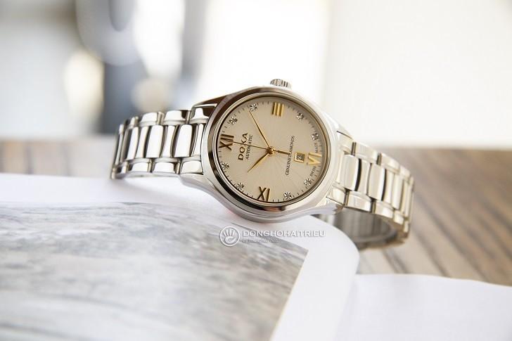Đồng hồ Doxa D219SCM đính 8 viên kim cương, máy cơ Thụy Sĩ - Ảnh: 1