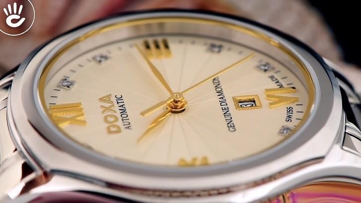 Đồng hồ Doxa D219SCM đính 8 viên kim cương, máy cơ Thụy Sĩ - Ảnh: 2