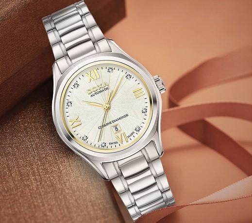 Đồng hồ Doxa D219SCM đính 8 viên kim cương, máy cơ Thụy Sĩ - Ảnh: 4