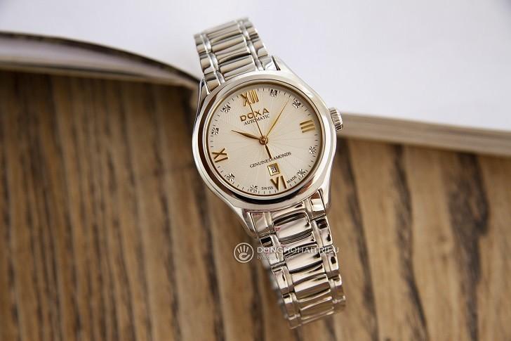 Đồng hồ Doxa D219SCM đính 8 viên kim cương, máy cơ Thụy Sĩ - Ảnh: 8