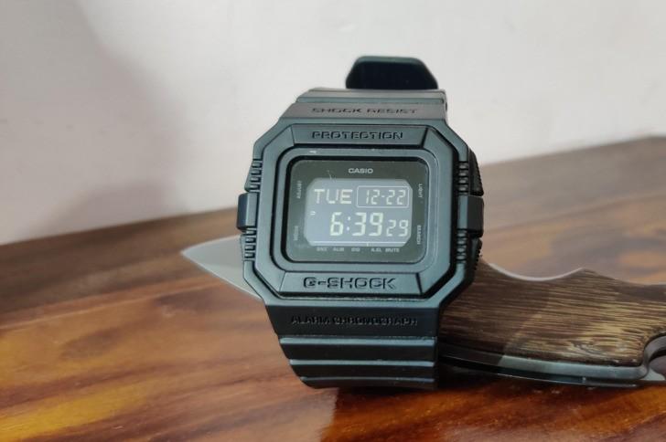 Đồng hồ G-Shock DW-D5500BB-1DR: Hướng về cổ điển quen thuộc - Ảnh 5