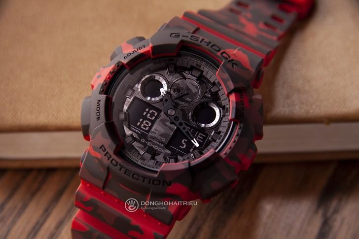 Đồng hồ G-shock GA-100CM-4ADR: Thiết kế mạnh mẽ ấn tượng - Ảnh 1