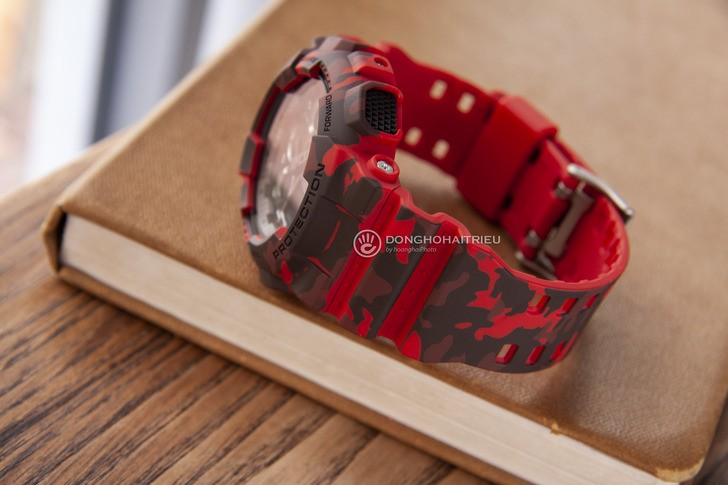 Đồng hồ G-shock GA-100CM-4ADR: Thiết kế mạnh mẽ ấn tượng - Ảnh 3