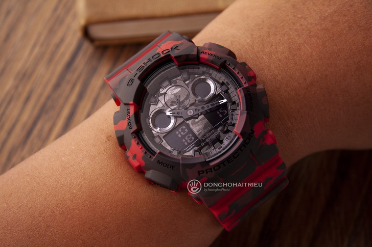 Đồng hồ G-shock GA-100CM-4ADR: Thiết kế mạnh mẽ ấn tượng - Ảnh 2