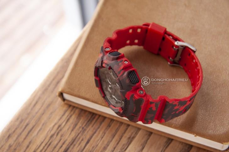 Đồng hồ G-shock GA-100CM-4ADR: Thiết kế mạnh mẽ ấn tượng - Ảnh 5