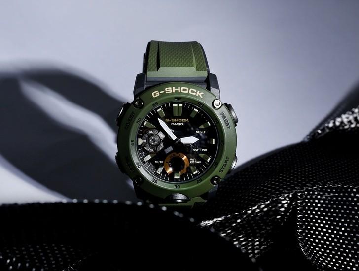 Đồng hồ G-Shock GA-2000-3ADR thoải mái lặn sâu - Ảnh 3