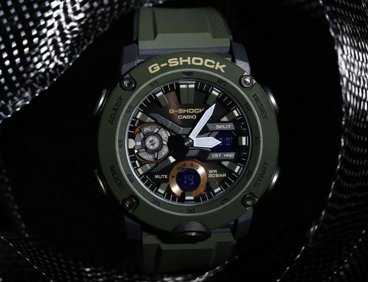 Đồng hồ G-Shock GA-2000-3ADR thoải mái lặn sâu - Ảnh 1