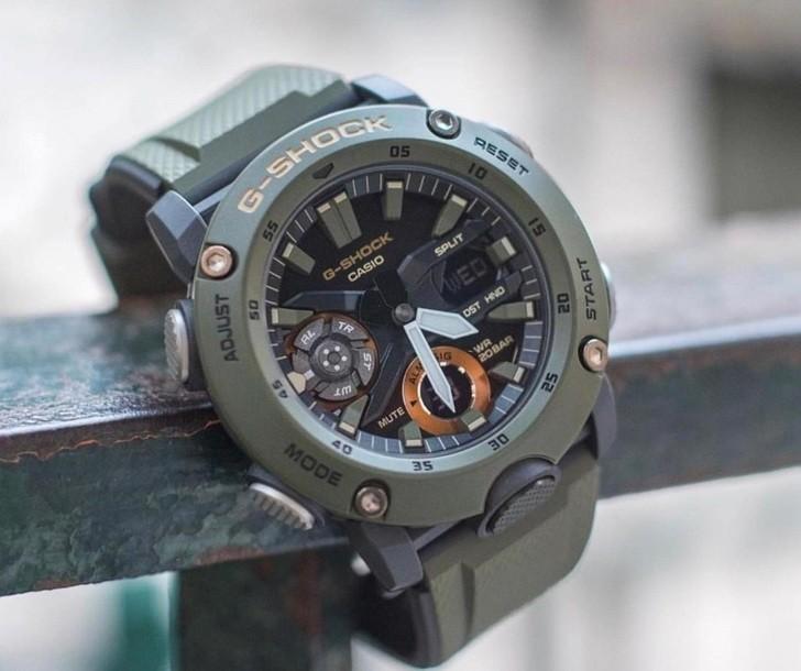 Đồng hồ G-Shock GA-2000-3ADR thoải mái lặn sâu - Ảnh 2