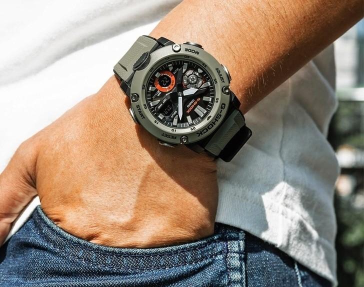 Đồng hồ G-Shock GA-2000-3ADR thoải mái lặn sâu - Ảnh 4