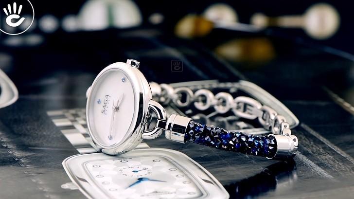 Đồng hồ Saga 53555 SVMWSV-2 kết hợp trang sức Swarovski - Ảnh: 5
