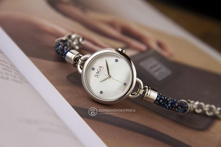 Đồng hồ Saga 53555 SVMWSV-2 kết hợp trang sức Swarovski - Ảnh: 6