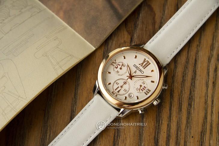 Đồng hồ Seiko SRWZ84P1 tông trắng trẻ trung, có Chronograph - Ảnh 1
