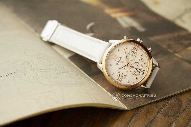 Đồng hồ Seiko SRWZ84P1 tông trắng trẻ trung, có Chronograph - Ảnh 2