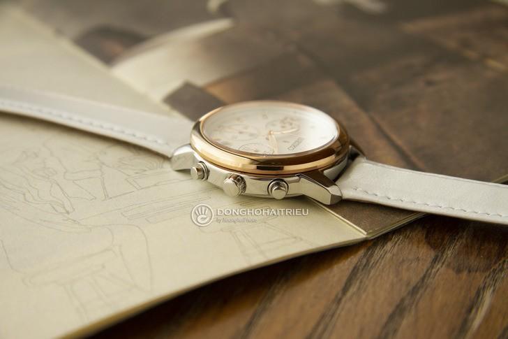 Đồng hồ Seiko SRWZ84P1 tông trắng trẻ trung, có Chronograph - Ảnh 5