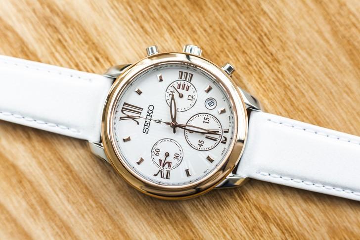 Đồng hồ Seiko SRWZ84P1 tông trắng trẻ trung, có Chronograph - Ảnh 6