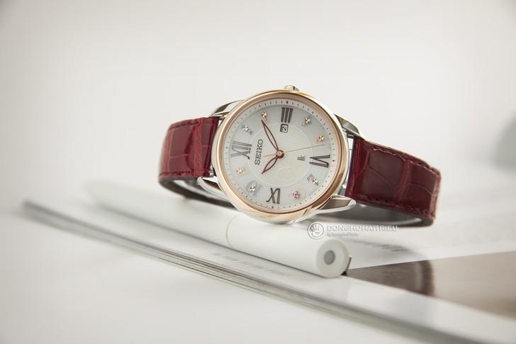 Đồng hồ Seiko SUT370J1 đính đá nổi bật, phối màu trẻ trung - Ảnh 2