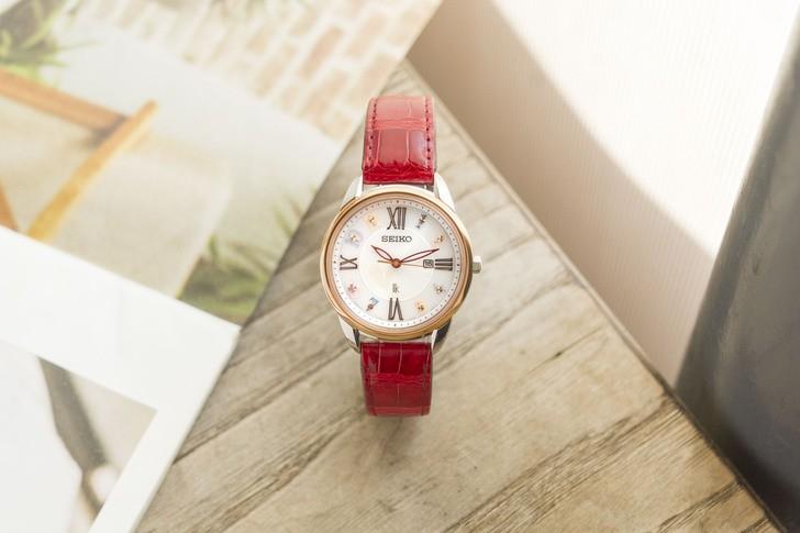 Đồng hồ Seiko SUT370J1 đính đá nổi bật, phối màu trẻ trung - Ảnh 6