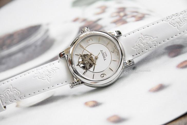 Đồng hồ Tissot T050.207.17.117.04 xà cừ, đính kim cương - Ảnh: 1