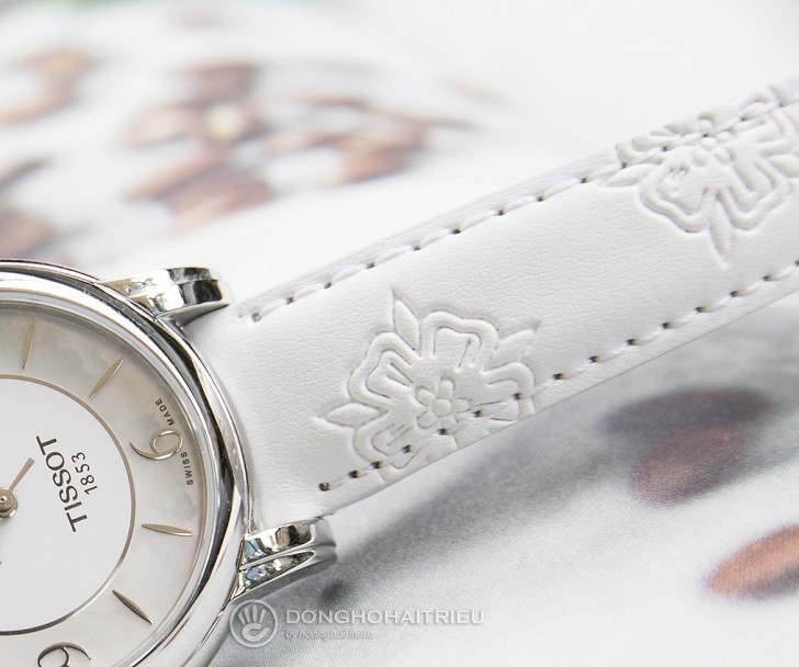 Đồng hồ Tissot T050.207.17.117.04 xà cừ, đính kim cương - Ảnh: 5