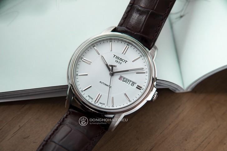Đồng hồ Tissot T065.430.16.031.00 máy cơ, kim dạ quang - Ảnh: 7