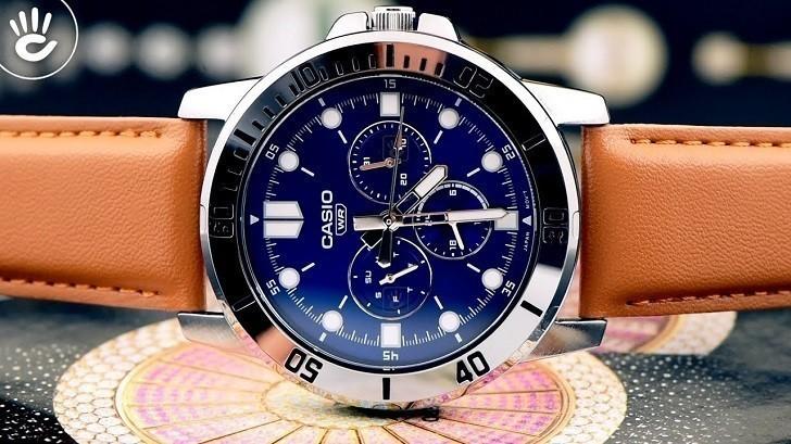 Đồng hồ Casio MTP-VD300L-2EUDF giá rẻ, ấn tượng mặt số xanh - Ảnh: 3