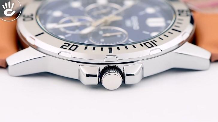 Đồng hồ Casio MTP-VD300L-2EUDF giá rẻ, ấn tượng mặt số xanh - Ảnh: 5