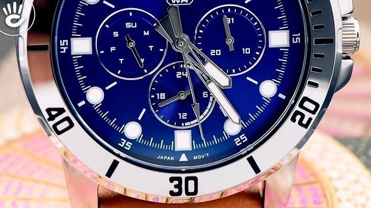 Đồng hồ Casio MTP-VD300L-2EUDF giá rẻ, ấn tượng mặt số xanh - Ảnh: 7